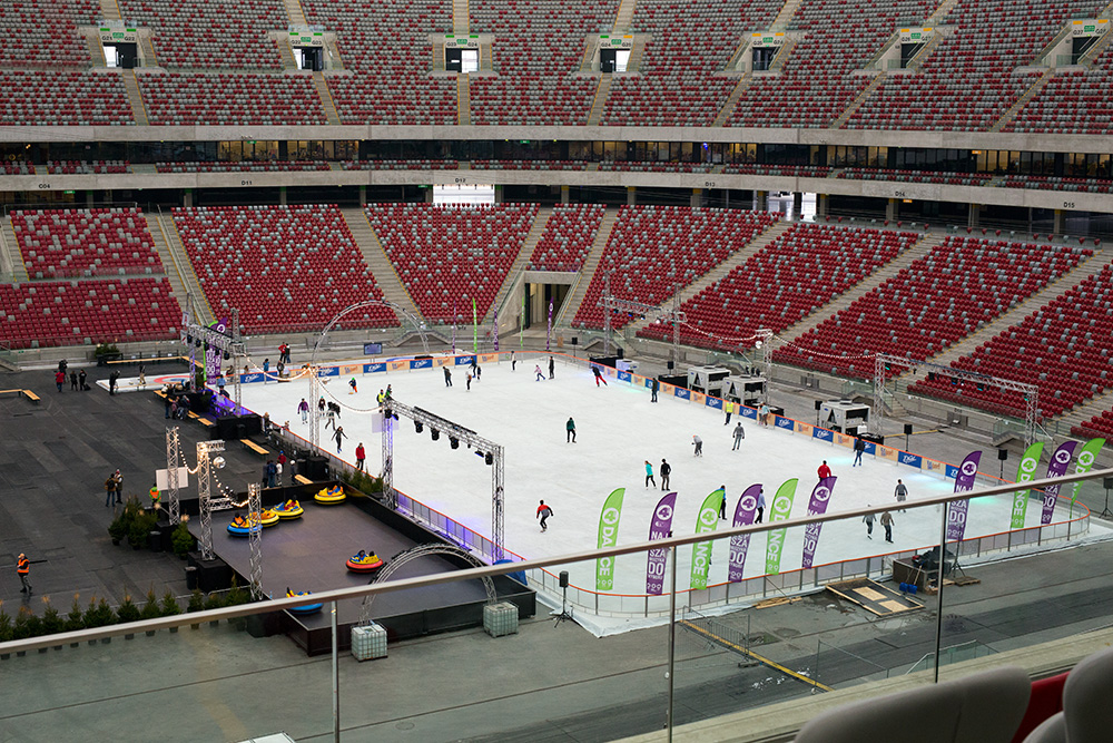 Skating at the National Stadium