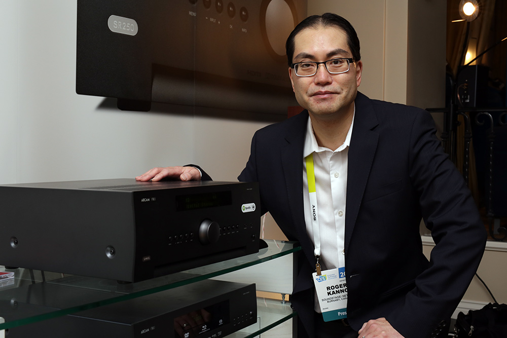 Roger with Arcam