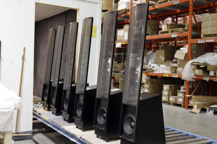 Speakers ready for testing