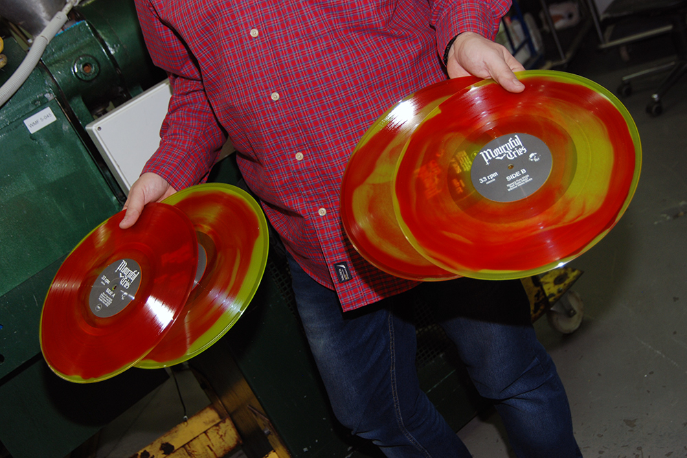 Multicolored vinyl